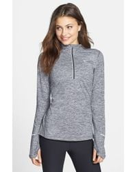 Nike | Gray 'element' Half Zip Top | Lyst