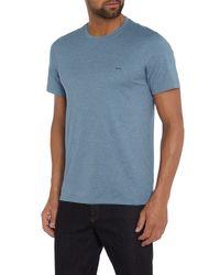 Michael Kors | Blue Regular Fit Small Logo Crew Neck T-shirt for Men | Lyst