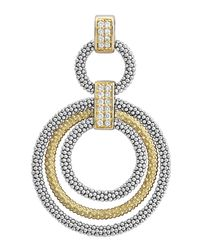 Lagos | Metallic Soiree Diamond & Caviar™ Circle Pendant | Lyst