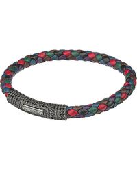 Tateossian | Multicolor Scoubidou Pavé Zirconia And Leather Bracelet | Lyst