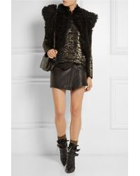 Isabel Marant - Yiley Metallic Stretch-Jersey Socks - Lyst