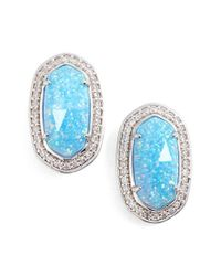 Kendra Scott | Blue 'elaine' Stud Earrings | Lyst