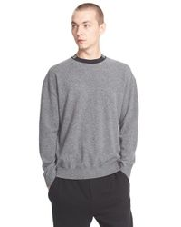 Alexander Wang - Gray 'barcode' Wool & Cashmere Sweater for Men - Lyst