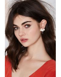 Nasty Gal | Metallic Shark Bite Earrings | Lyst