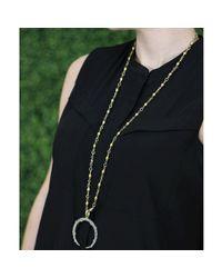 Sylva & Cie - Metallic Diamond Horseshoe Pendant - Lyst