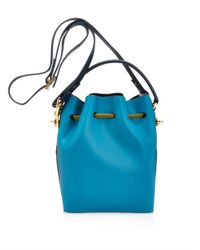 Sophie Hulme | Green Drawstring Leather Bucket Bag | Lyst