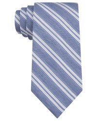 Calvin Klein - Blue White Wash Denim Stripe Slim Tie for Men - Lyst