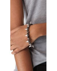 Joomi Lim - Metallic Metal Luxe Spike Bracelet - Hematite/silver - Lyst