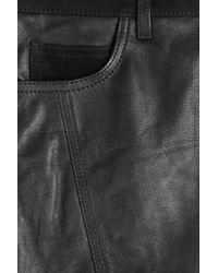 Burberry Brit - Lamb Leather Pencil Skirt - Black - Lyst