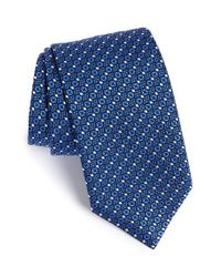 Brioni | Blue Mini Floral Print Tie for Men | Lyst