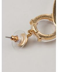 Gerard Yosca - Metallic Double Hoop Earring - Lyst