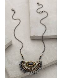 Anthropologie | Gray Radial Necklace | Lyst