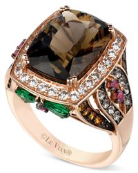 Le Vian - Pink Smokey Quartz And Multistone Ring (7-1/3 Ct. T.w.) In 14k Rose Gold - Lyst