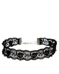 ASOS - Black Lace Choker Necklace - Lyst