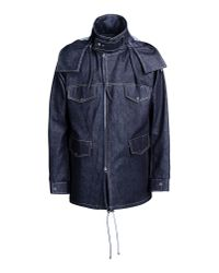 E. Tautz - Blue Mid-Length Jacket for Men - Lyst