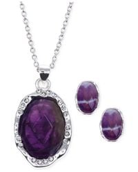 Jones New York - Purple Silver-tone Stone And Crystal Jewelry Set - Lyst