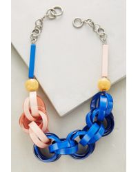 Anthropologie | Blue Ellesiv Link Necklace | Lyst