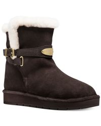 Michael Kors - Brown Michael Sandy Cold Weather Booties - Lyst