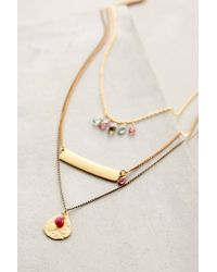 Anthropologie | Metallic Zephyrine Layered Necklace | Lyst