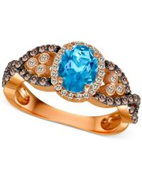 Le Vian | ® Blue Topaz (1 Ct. T./w.) And Diamond (2/3 Ct. T.w.) Ring In 14k Rose Gold | Lyst