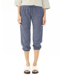 Alternative Apparel | Blue Easy Eco-mock Jersey Crop Pants | Lyst