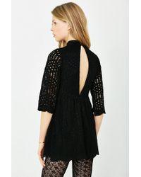 Motel | Black Luella Lace Babydoll Dress | Lyst