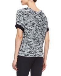Lafayette 148 New York | Black Short-dolman-sleeve Sweater | Lyst