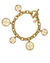 Michael Kors | Metallic Logo Charm Bracelet | Lyst
