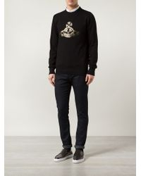 Vivienne Westwood | Black Orb Print Sweatshirt for Men | Lyst