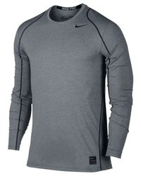 Nike | Black Men's Pro Cool Dri-fit Fitted Long-sleeve Shirt for Men | Lyst