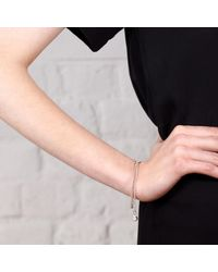 Maya Magal | Metallic Double Pearl Bracelet Silver | Lyst