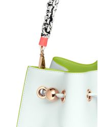 Sophia Webster - Green 'romy' Braided Handle Leather Bucket Bag - Lyst