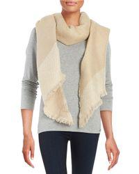 Calvin Klein | Natural Asymmetrical Blanket Scarf | Lyst