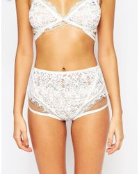 For Love & Lemons - Skivvies For Love & Lemons Ophelia High Waist Brief - White - Lyst