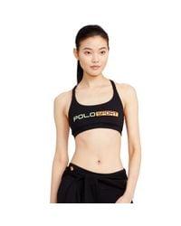 Polo Ralph Lauren - Black Crisscross-back Sports Bra - Lyst