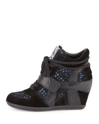 Ash | Black Bowie Sequined Hidden-wedge Sneaker | Lyst