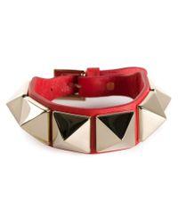 Valentino | Red Large 'Rockstud' Bracelet | Lyst