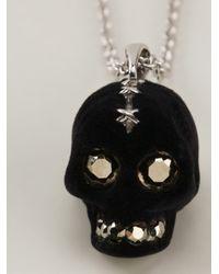 Alexander McQueen   Metallic Skull Pendant Necklace for Men   Lyst