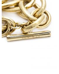 Vaubel - Metallic Large Link Ring Bracelet - Lyst