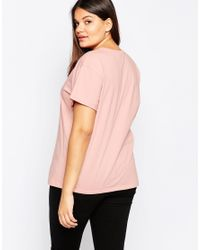 Asos Curve | Pink The Ultimate Easy T-shirt | Lyst