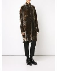 Y. Project | Brown Bustle-back Shirt | Lyst