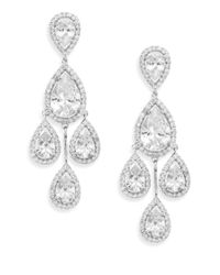 CZ by Kenneth Jay Lane | Metallic Chandelier Drop Earrings | Lyst