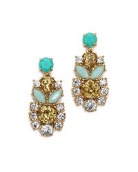 kate spade new york | Blue Showgirl Gems Statement Earrings - Gold Multi | Lyst