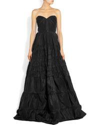Rochas - Black Strapless Taffeta Gown - Lyst