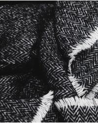 Zara | Black Zig Zag Scarf | Lyst