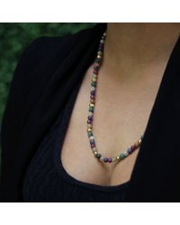 Shamballa Jewels - Multicolor Mixed Bead Necklace - Lyst