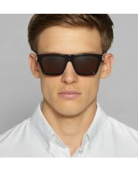 Saint Laurent - Black Sl5 Square-Frame Acetate Sunglasses for Men - Lyst