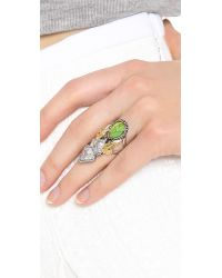 Alexis Bittar | Green Elongated Olmeca Ring Turquoise Multi | Lyst