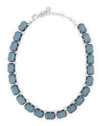 R.j. Graziano | Green Emerald-crystal Station Necklace | Lyst