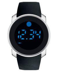 Movado | Black Digital Rubber Strap Watch for Men | Lyst